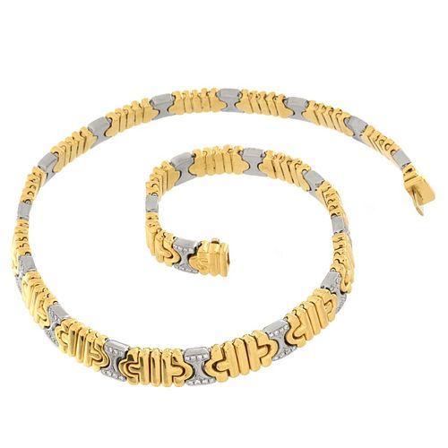 Bulgari Diamond and 18K Necklace