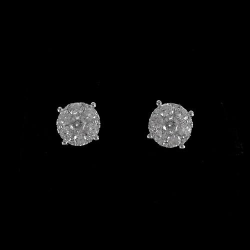 Diamond and 14K Ear Studs