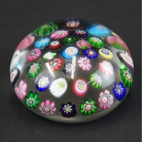 Antique Clichy Spaced Concentric Paperweight