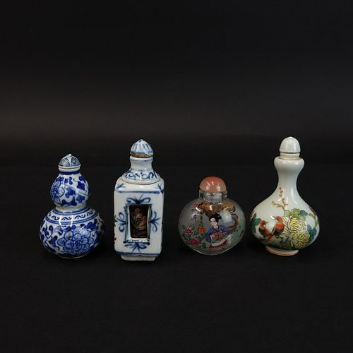 Four (4) Antique Chinese Snuff Bottles