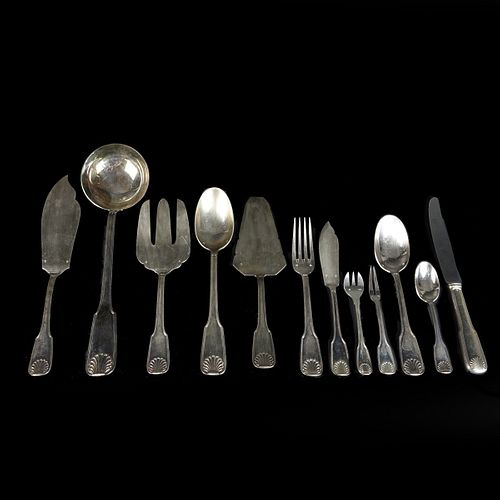 Large Silverplate Flatware Service