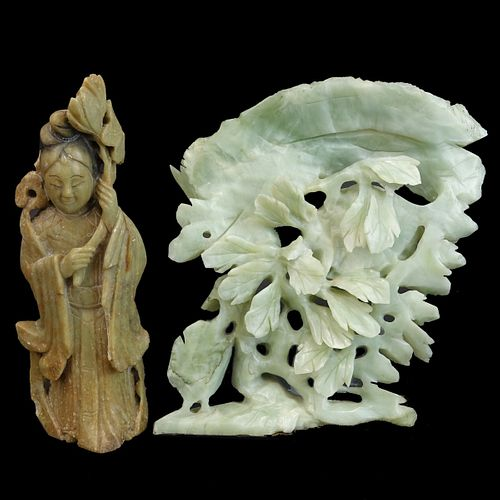 Two (2) Antique Chinese Carved Figurines