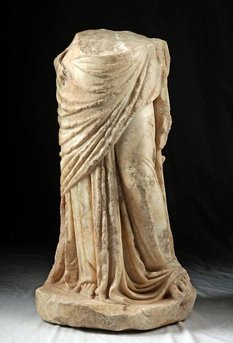 Published Greek Hellenistic Marble Body of Goddess