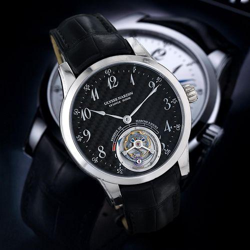 Ulysse Nardin Anchor Tourbillon Limited Carbon dial in 18K white gold