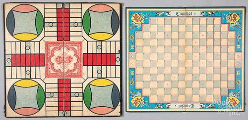 Three vintage board games