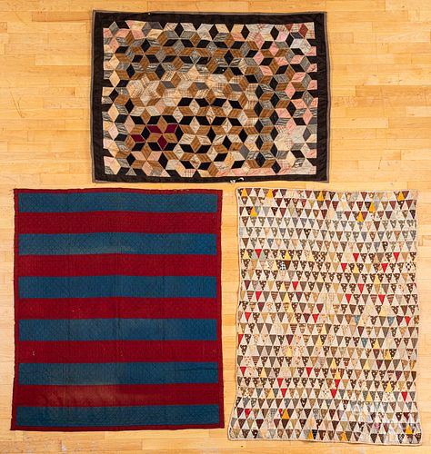 Three youth quilts, late 19th c.