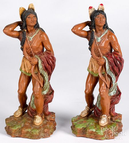 Pair of Universal Statuary resin figures