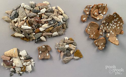 Group of Native American Stones and artifacts