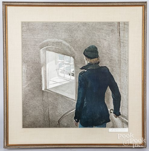 Andrew Wyeth signed collotype