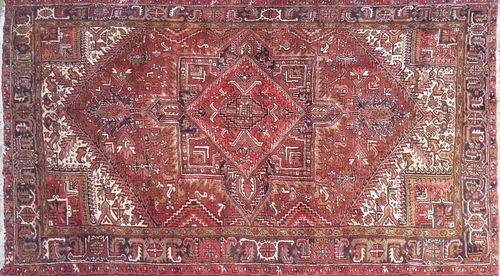 Vintage Hand Knotted Wool Heriz Carpet, circa 1940
