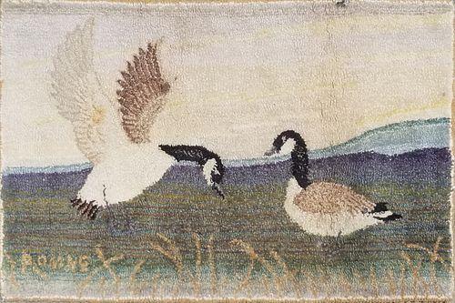 Wool Hooked Rug