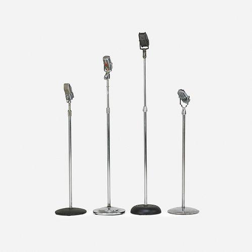 American, vintage microphones, set of four