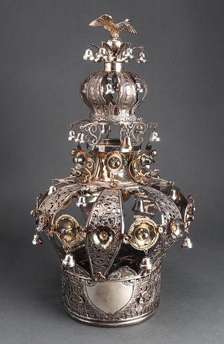 Judaica Russian Silver Torah Crown, 19th Century