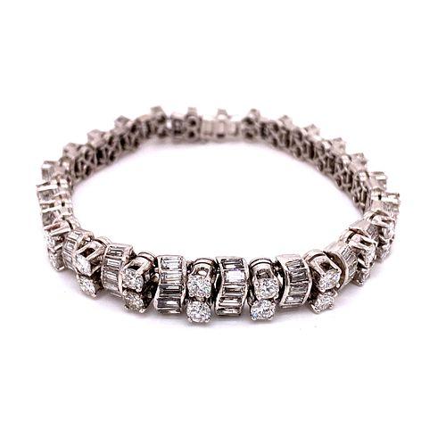 Art Deco Platinum Diamond BraceletÊ