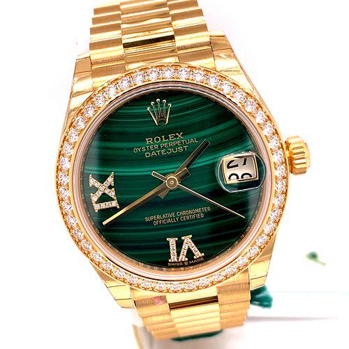 New Rolex Datejust 31mm Yellow Gold Ladies Watch