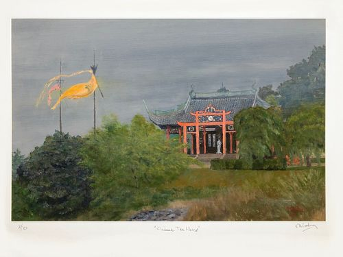 Frederick A. Cushing, Chinese Tea House, 2010, Limited Edition Giclee Print