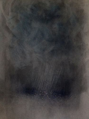Mary Dondero, Lurking Fear. Squall on Narragansett, 2017, Pastel and Pencil Drawing