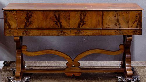 Edwardian Maple Spinet Desk
