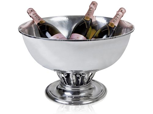A Monumental Georg Jensen Sterling Silver Champagne Bucket #19D