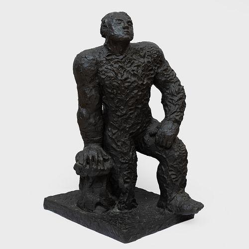 Sandro Chia (b. 1946): Kneeling Man
