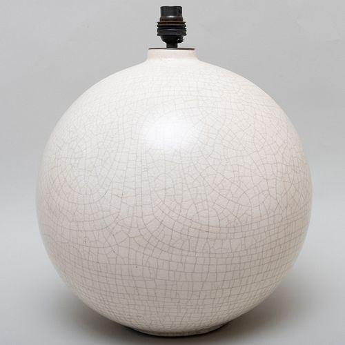 Jean Besnard Crackle Glazed Lamp