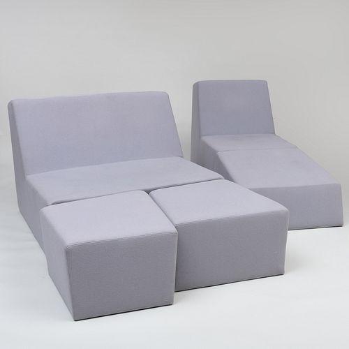 Quinze & Milan Grey Felt Custom Sofa