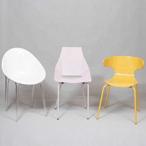 Group of Nine Modern Chairs