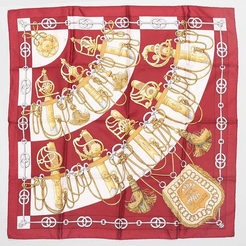 Group of Four Hermès Silk Scarves