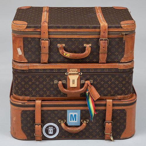 Three Louis Vuitton Softbound Suitcases