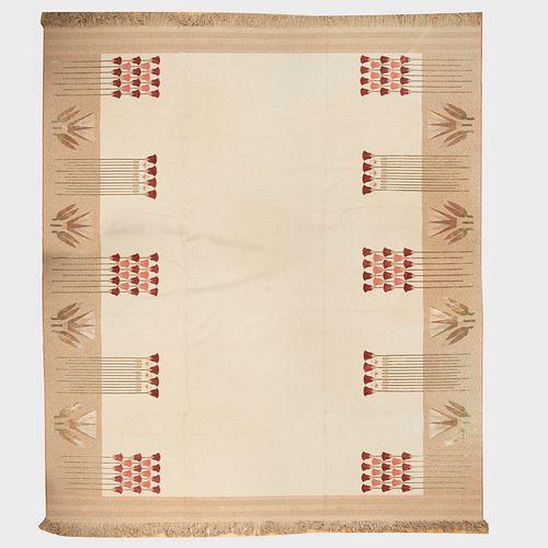 Custom Designed V'Soske Lotus Blossom Wool Carpet