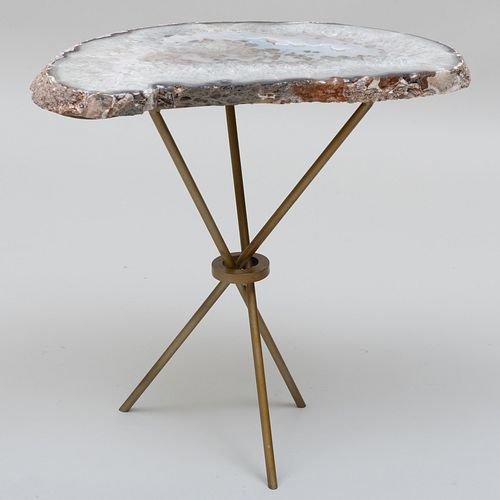 Geode and Metal Side Table