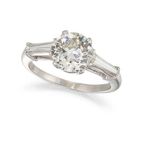 A SINGLE STONE DIAMOND RING, the round brilliant cut diamond, estimated app