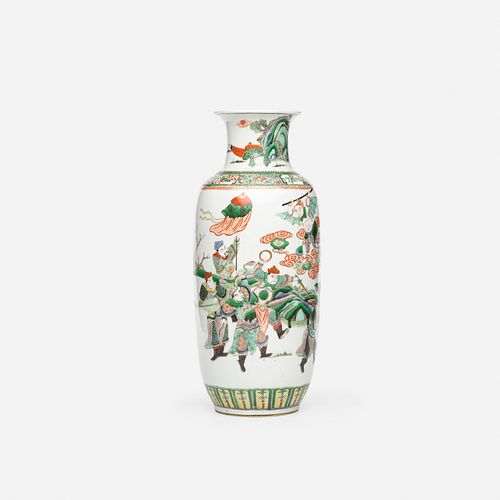 Chinese, Famille Verte 'Journey to the West' vase