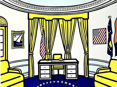 "Roy Lichtenstein (American 1923-1997) ""Oval Office"""