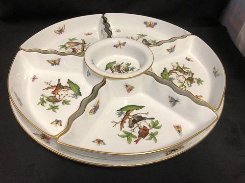 Herend Porcelain  7 Piece Condiment Serving Dish