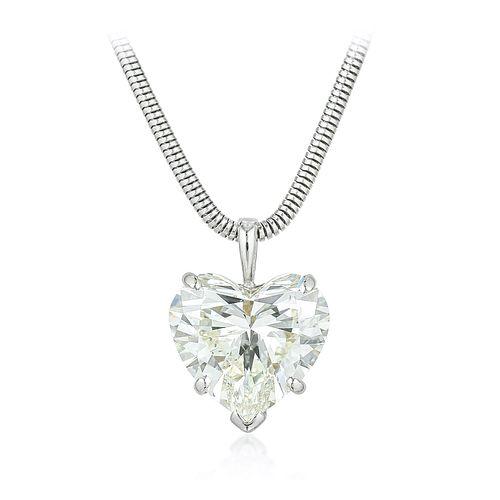 6.68-Carat Heart-Shaped Diamond Pendant Necklace