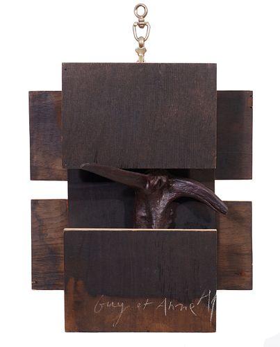 Herve Telemaque Wood Sculpture 1994