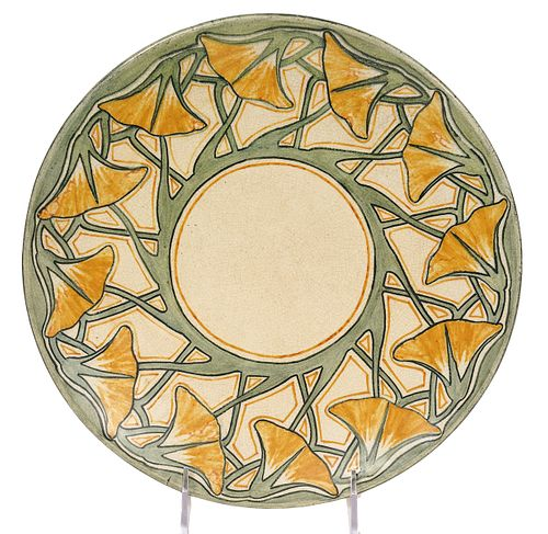 Newcomb Pottery 'Amelie Roman' Plate