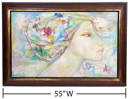 Servando Cabrera Moreno 'Altisidora' Painting