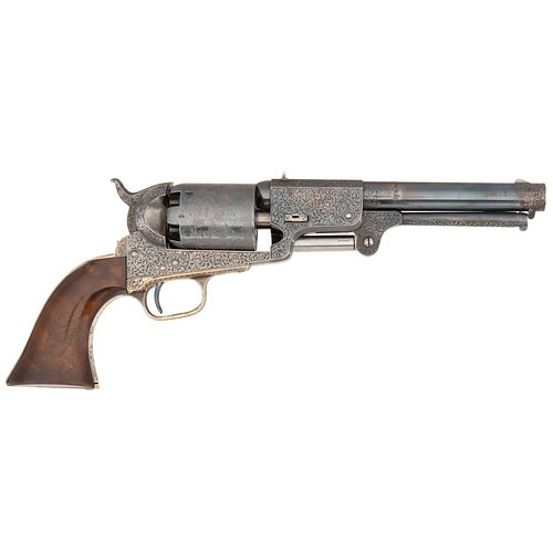 Deluxe Factory Exhibition Engraved English Hartford Colt Third Model Dragoon Revolver