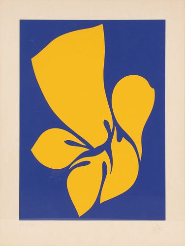 Jack Youngerman (American, 1926-2020) Pair of prints (from Changes), 1970