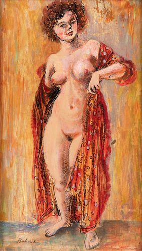 Aaron Bohrod (American, 1907-1992) Untitled (Portrait)
