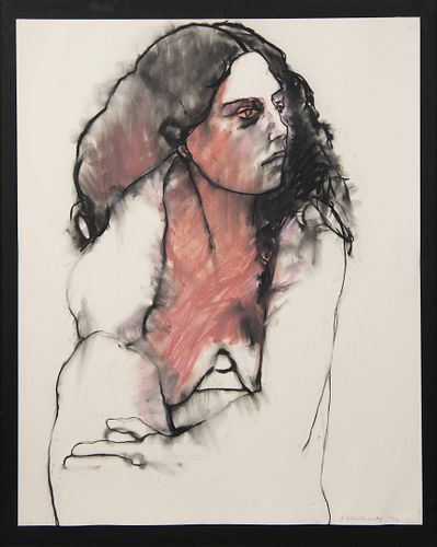 Sideo Fromboluti (American, 1920-2014) Untitled (Portrait of a Woman), 1972