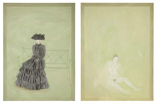 Nicolas Africano (American, b. 1948) Ingenue, 1984-85 (diptych)