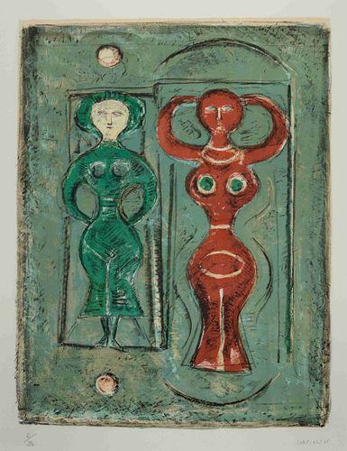 Massimo Campigli (Italian, 1895-1971) Two Dancers, 1965