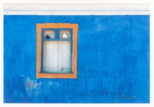 Jay Maisel (American, b. 1931) Blue Wall and Doves, Portugal, 1972 (printed later)
