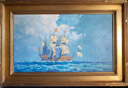 """Thomas Watson Ball """"On the High Seas"""" - Courtesy The Cooley Gallery, Connecticut"""
