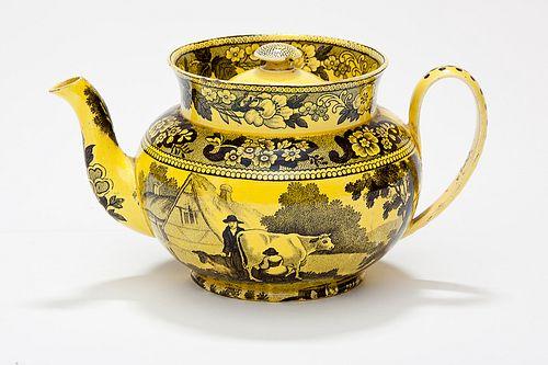 A rare yellow teapot, France, circa 1825 courtesy of Taylor B. Williams Antiques