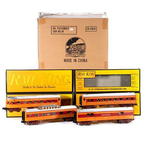O Gauge MTH Rail King Milwaukee Road Streamline 4 car set 30-6090