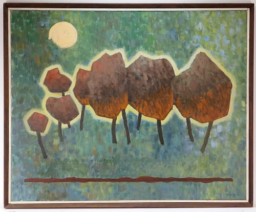 Robinson Murray Modern Nocturnal Forest Painting